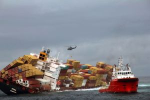 Rena Cargo ship aground new zealand