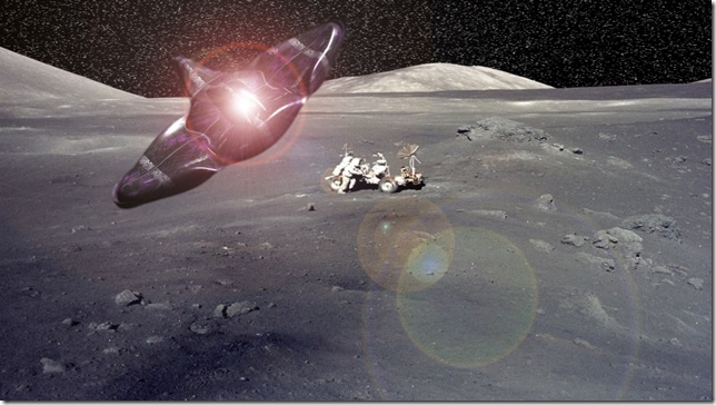 NASA MOON the real one soften lens flare