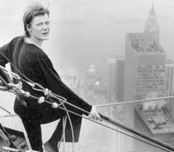 Philippe Petit twin towers walk 2