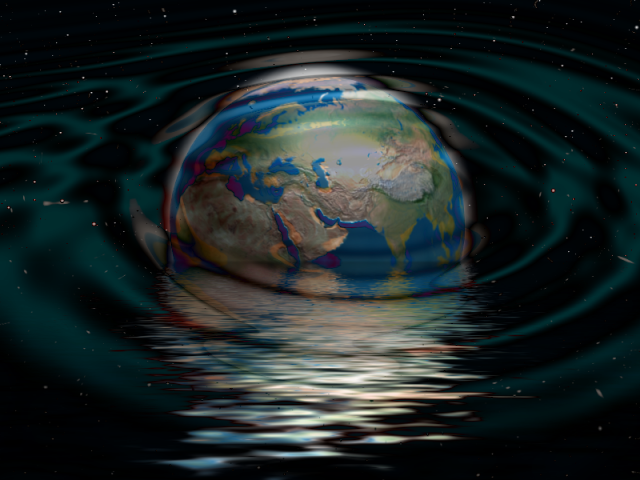 earth space water